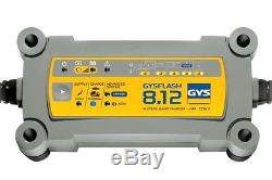 GYS FLASH 12V 8A SMART LEISURE BATTERY CHARGER Recovers Deep Discharge Batteries