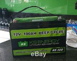 KS ENERGY 12V 100Ah Lithium Leisure Battery