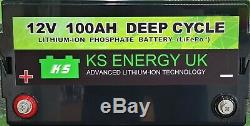 KS Energy 100AH 12V lithium leisure battery