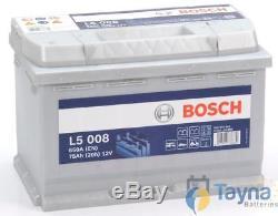L5008 Bosch Leisure Battery 12V 75Ah L5 008