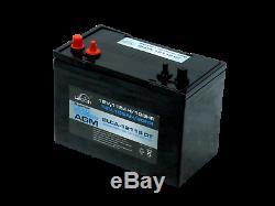 LEOCH 12V 115Ah SLCA / AGM SUPER Deep Cycle Leisure Battery 1000 Cycles