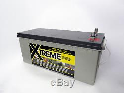 LEOCH 12V 200AH Deep Cycle AGM Leisure / Starter Battery 629 AGM Replacement
