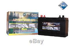 LEOCH 12v 120ah SFL DEEP CYCLE Leisure Battery, MOTORHOME, BOAT, CARAVAN