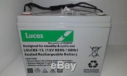 LUCAS 12V 85AH AGM/GEL Deep Cycle Battery Leisure Caravan Motorhome, Marine Boat