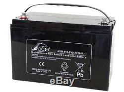 Leoch AGM-110-EV Mobility Battery, Motorhome Leisure, 12V 110Ah X2 Pair Of