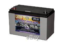Leoch Adventurer AGM 12V 130AH Deep Cycle Solar, Leisure Marine Battery LAGM-130