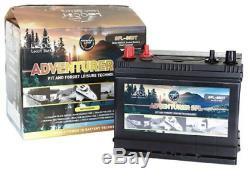 Leoch Adventurer Dual Terminal Leisure Battery (sfl-130dt) 12v 130ah