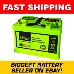 LiFOS 105 Lithium Leisure Battery Advanced Lightweight 105Ah LB0105