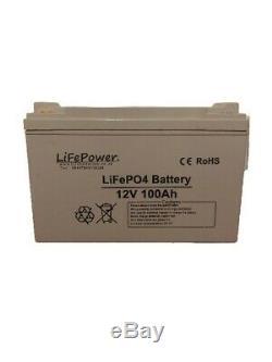 LiFePower 100Ah 12V LITHIUM LEISURE BATTERY LiFePO4