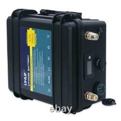 Lifepo4 12v 50ah Battery For Boat Rv Caravan Solar Leisure Waterproof Li-ion BMS