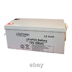 Lithium Leisure Battery 12v, 200AH LiFePO4 with Bluetooth, Motorhome, Off grid
