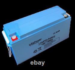 Lithium Leisure Battery, LiFePO4, Bluetooth, Motorhome, Boat, Van 150AH-170AH