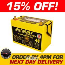 MB105-12 MOTOBATT AGM Deep Cycle Leisure Battery 12V 112Ah