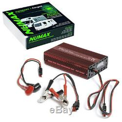 NUMAX 121000 Smart Battery Charger for Car Batteries, Leisure Batteries and more