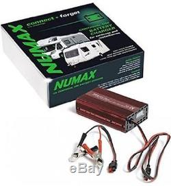 Numax 12V 10A Intelligent Leisure Battery Charger Caravan Motorhome Marine