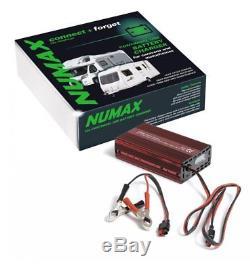 Numax 12V 10A Leisure Battery Charger Caravan Motorhome, Marine, Boat, Mower