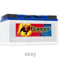 ONE PAIR 12v Banner 110ah Energy Bull Deep Cycle Leisure Battery (95751)
