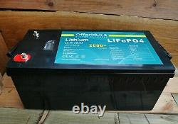 Offgrid Life 12V 200Ah Lithium LiFePO4 Leisure Battery RV Camper Boat Off Grid