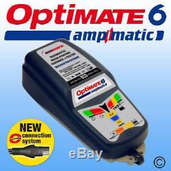 Optimate 6 Ampmatic Car Van Boat Motorhome Leisure Battery Charger Optimiser 12v