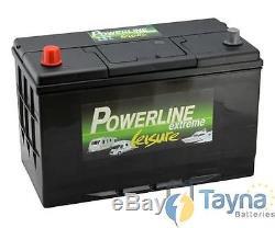 POWERLINE CXV30HMF Sealed Leisure Battery 12V 105Ah 1000MCA 500 Cycles XV30HMF