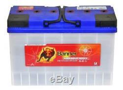Pair 12v Banner 135AH Energy Bull Deep Cycle Leisure Battery (95901)