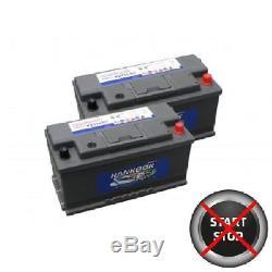 Pair of 110Ah Leisure Battery Caravan Motorhome 12V Low Height Low Price