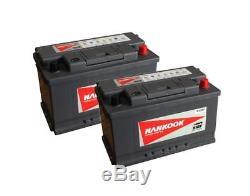 Pair of 85Ah Leisure Batteries 12V