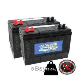 Pair of Numax 100Ah Deep Cycling Leisure Batteries 12V, Extra Heavy Duty