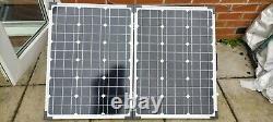 Portable folding solar panel 100w leisure battery multi-purpose 110 amp hours