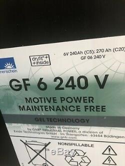 SONNENSCHEN AGM6v-270AH LEISURE/SOLAR/INVERTER POWER 12v 270ah BATTERY Non Spill