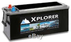 Sealed Calcium 12v Xplorer 180ah Boat Battery. Huge Power