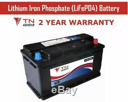 TN Power 12V 110Ah Lithium Polymer Leisure Battery for Motorhomes, Boats and EV