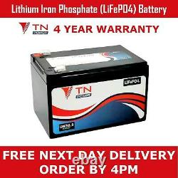 TN Power Lithium Leisure Battery 12V 12Ah LiFePO4 for Golf & Mobility