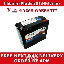 TN Power Lithium Leisure Battery 12V 24Ah LiFePO4 for Golf & Mobility