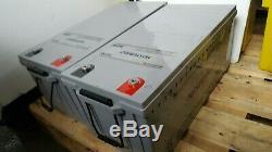 TWO MASTERVOLT AGM 12v 225AH (450AH) LEISURE / SOLAR BATTERY / INVERTER