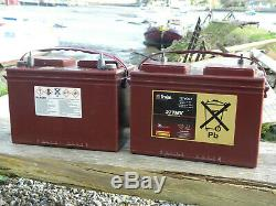 Trojan Deep Cycle Lead Acid 12v 100amp Leisure Battery 27TMX x2