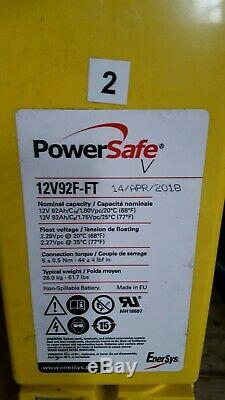 Two Powersafe Ft 92ah 12v-185ah Leisure /solar / Off Grid Power Batteries