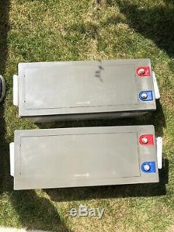 Two Victron Energy 12V 230Ah AGM Super Cycle Leisure Batteries (M8)-BAT412123081