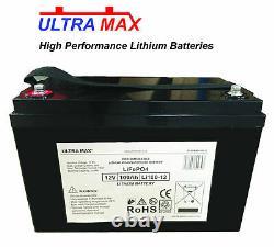 ULTRAMAX 100Ah 12V LITHIUM LEISURE BATTERY