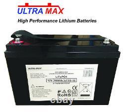 ULTRAMAX LEISURE BATTERY 12V 100Ah LiFePO4 LITHIUM GOLF CART BATTERIES