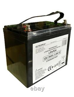 Ultramax LI85-12, 12v 85Ah Lithium Phosphate LiFePO4 Battery For Leisure