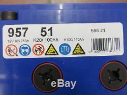 Used. Banner 100 Ah 12v Leisure Battery For Caravan/ Motorhome / Boat