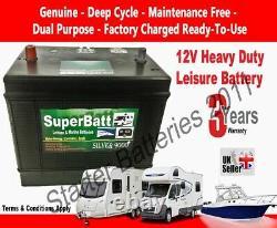 VDC 120AH 12V Deep Cycle Leisure Battery Caravan Motorhome Boat Solar Heavy Duty