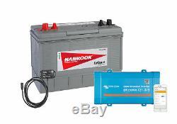 XV31 100Ah Sealed Leisure Battery & 12V 375VA Victron Phoenix VE Direct Inverter