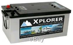 Xplorer 12v 220 AH AGM Deep Cycle Leisure Battery Boat Motorhome