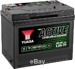 Yuasa L26-70 12V 70Ah 480A Leisure Battery
