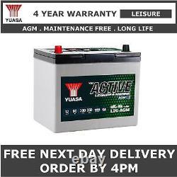 Yuasa L26-AGM Leisure Battery 12V 90Ah 259x168x232mm AGM