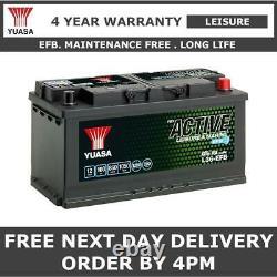 Yuasa L36-EFB Leisure Battery 100Ah, XV110 Case Size, 353x175x190mm Low Height